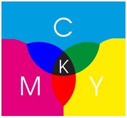 CMYK-Kreis - Erklärung wie sich die vier Farben CMYK zusammen setzen